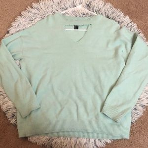 Mint Sweater With Cut Out